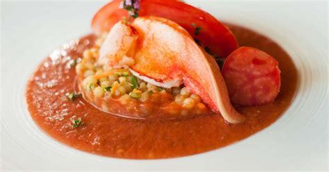 cuisiner du homard homard gaspacho et fregola sarda recette par jehan