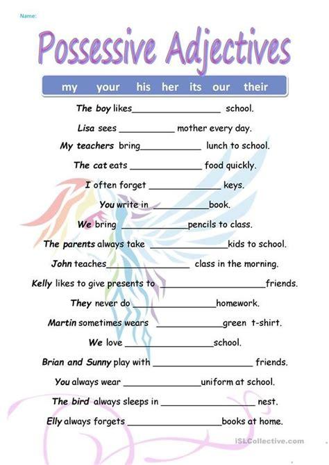 possessive pronouns pronoun worksheets possessive