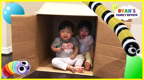 Twins Baby Hiding And Playing In A Box! Family Fun Kids