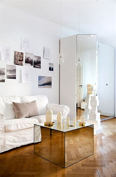 mirrored cube coffee table interiors  color