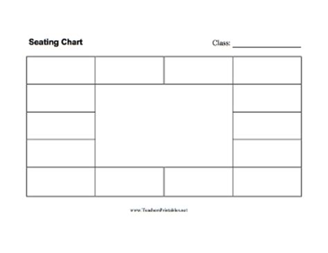 seating chart rectangle shape