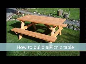 How to build a picnic table - A step by step guide - YouTube