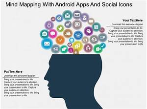 Mind Mapping With Android Apps And Social Icons Flat
