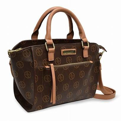 Vittadini Adrienne Handbags Satchel Signature Chocolate Prices