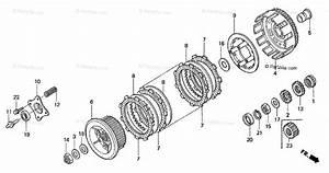 Honda Motorcycle 1999 Oem Parts Diagram For Clutch