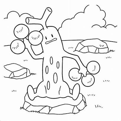 Pokemon Coloring Pages Fire Type Sudowoodo Printables