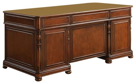 bristol court l desk riverside furniture bristol court executive desk in cognac