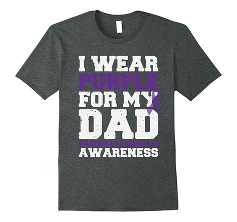 I Wear Purple For My Dad Pancreatic Cancer T Shirt PL
