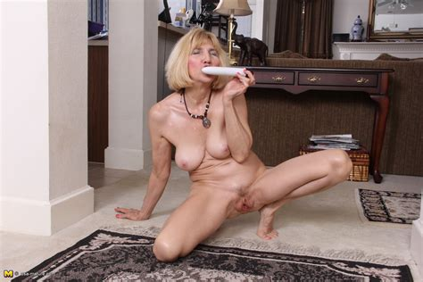 Naughty American Mature Lady Teasing And Playing