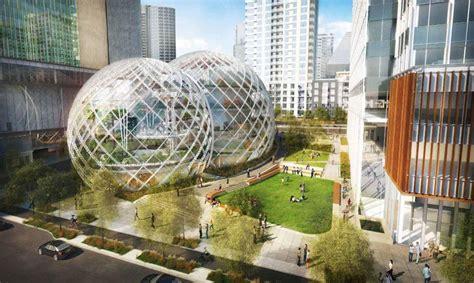 siege amazon 3 boules en verre géante pour le nouveau siège d 39 amazon à