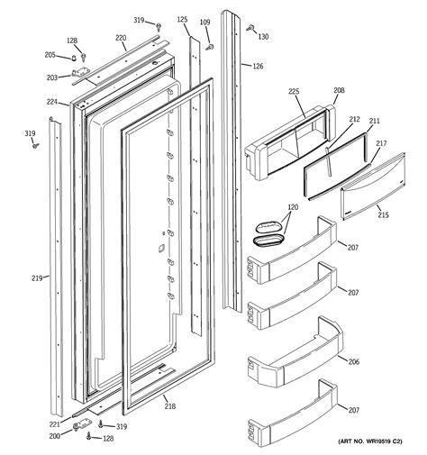 ge ziswdrj side  side refrigerator parts sears
