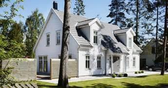 lingkar warna desain rumah bergaya tradisional scandinavia