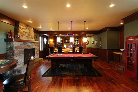 irish pub addition traditional family room