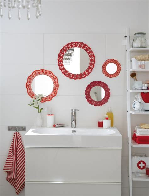 If your bathroom is small—but has a bare wall to spare—take a cue from mauro guerini and jürgen when it comes to decorating a small bathroom, go big or go home. DIY bathroom decor on a budget - Cute wall mirrors idea