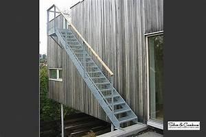 Escalier Exterieur Metal : escaliers silice cambium ~ Voncanada.com Idées de Décoration