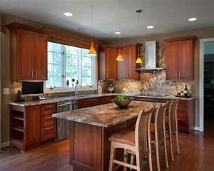 Granite countertops match your kitchen cabinets founterior for What kind of paint to use on kitchen cabinets for white tiger stickers