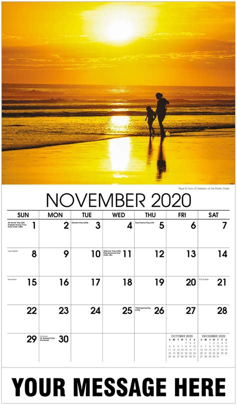promotional advertising calendar sun sand surf beaches