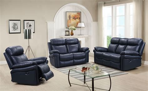 blue leather reclining sofa shae joplin blue leather power reclining sofa from luxe