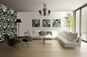 papier peint tendance 50 idees pour une maison moderne With deco salon papier peint