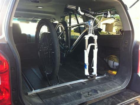 car  mountain bikers ride  bikes