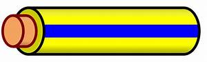 File Wire Yellow Blue Stripe Svg