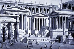 Roman Empire Buildings Drawings