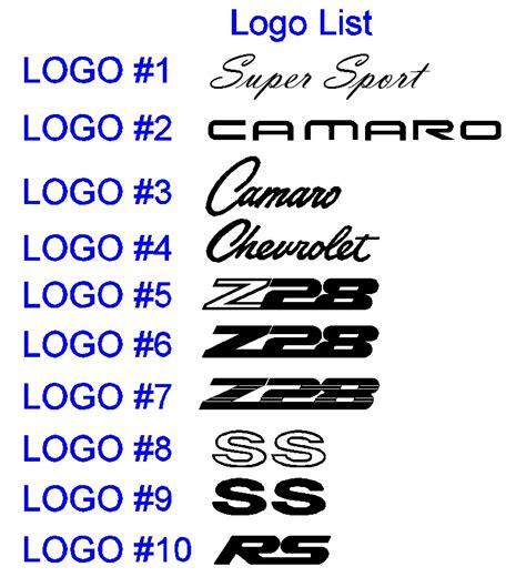 Chevrolet Font by 13 Camaro Logo Font Images Camaro Logo Vector Camaro Ss