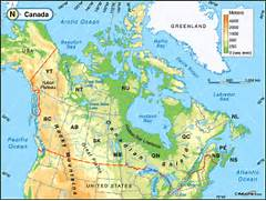 Pics Photos - Physical Map Of Canada  Canada Physical Map