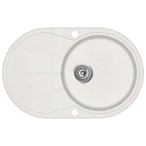 single basin kitchen sink plumbing vidaxl granite kitchen sink single basin oval white home