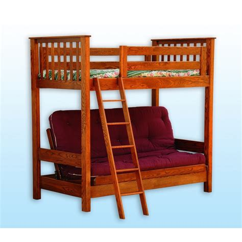 17347 futon bunk bed futon loft bed amish crafted furniture