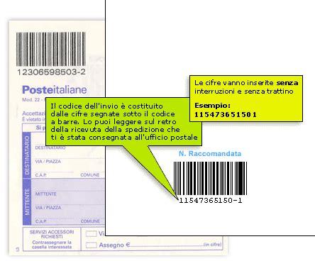 Poste Italiane Trova Ufficio by Rintracciare Raccomandata