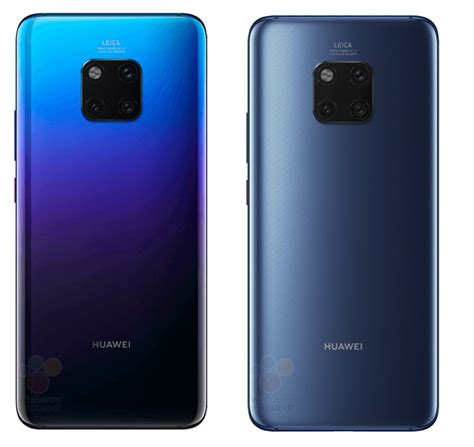 Huawei Mate 20 Pro leaked press renders reveal color ...