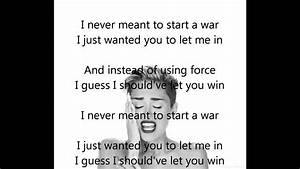 Miley Cyrus - Wrecking Ball Acapella (+ lyrics) - YouTube