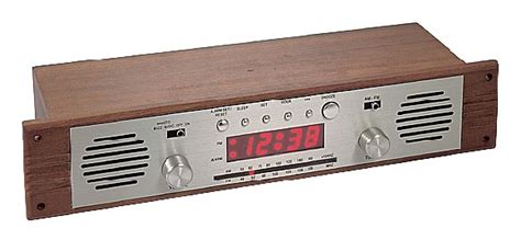 Wall Mounted Wooden Alarm Clock Radio From Well Tech