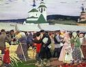 The Fair. Boris Mikhailovich KUSTODIEV   Great Russian Artists