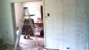 DIY Covering up fake wood paneling! & Way better looking