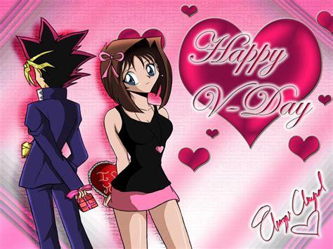 anime couple happy valentines day wallpaper