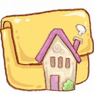 Cute Pink House And Folder Icon, PNG ClipArt Image ...