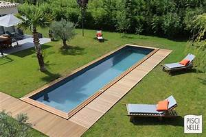 couloir de nage piscine cn piscinelle With exceptional terrasse en bois pour piscine hors sol 2 enterrees hors sol semi enterrees des piscines bois