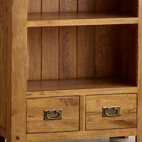quercus tall bookcase  rustic oak oak furniture land