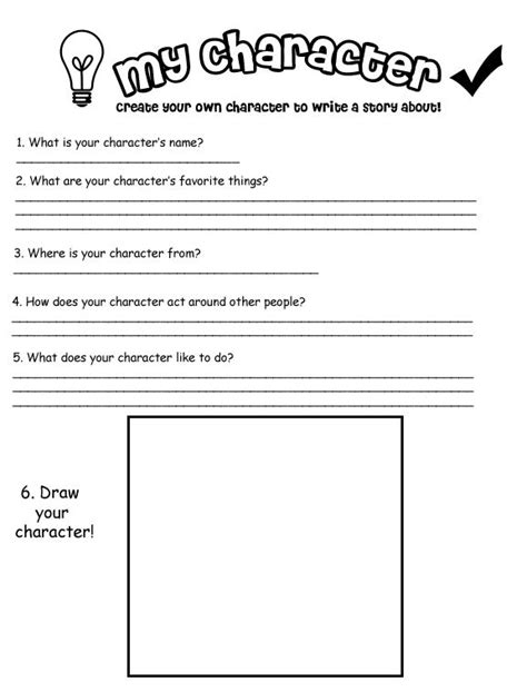 character development worksheets character worksheet destination imagination summer