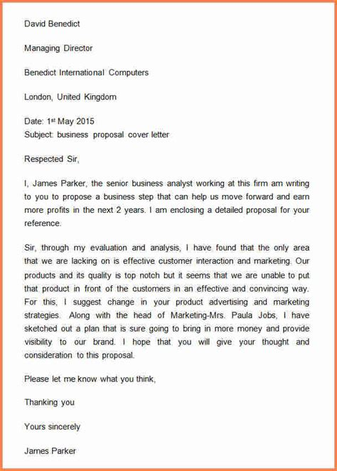 sample letter  request  business proposal