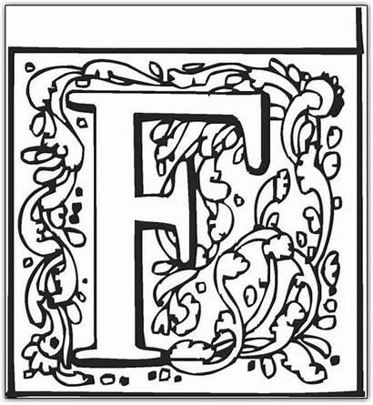 Coloring Letter Alphabet Fancy Letters Pages Block
