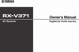 Yamaha Rx V371 Owner U0026 39 S Manual