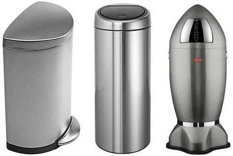 stainless steel kitchen garbage can stainless steel kitchen trash cans whereibuyit