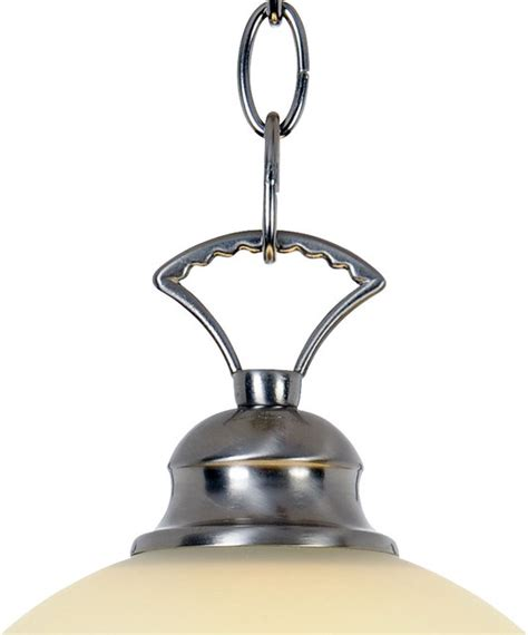 one light 16 inch pendant fixture 617255 brushed nickel