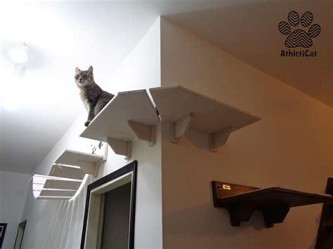 mensola angolo mensola per gatti ad angolo in legno made in italy