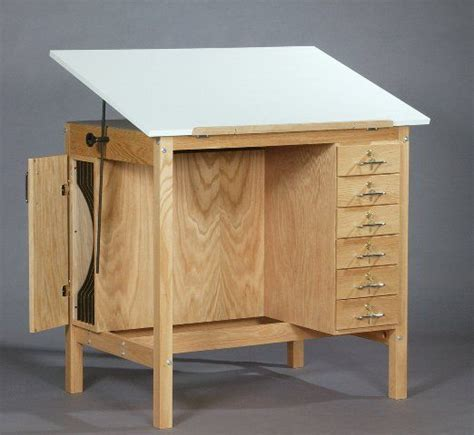 wooden drafting table officecraft room furniture
