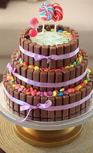 3 tier chocolate birthday cake - kitkat cake, with the ...