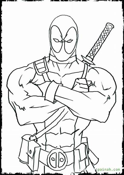 Deadpool Coloring Pages Adults Lego Colour Colouring